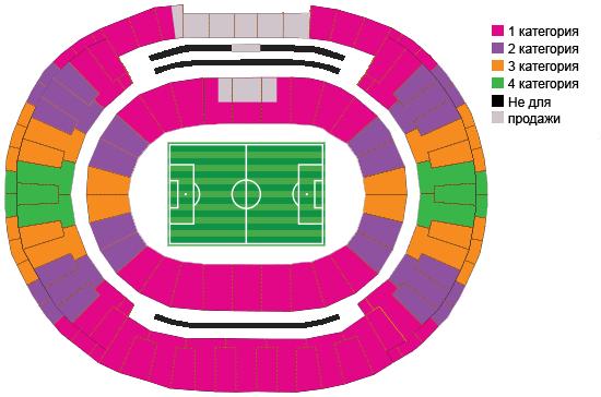 Схема стадиона Estádio do Maracanã и категории билетов